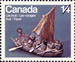 Migration Canada Postage Stamp | Inuit, Travel