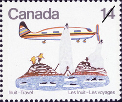 Aeroplane Canada Postage Stamp | Inuit, Travel