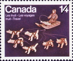 Dogsled Canada Postage Stamp | Inuit, Travel