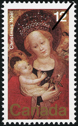 The Madonna of the Flowering Pea Canada Postage Stamp | Christmas
