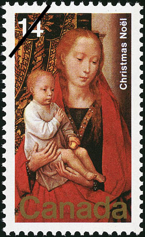 The Virgin and Child Canada Postage Stamp