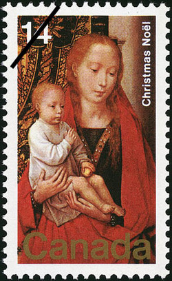 The Virgin and Child Canada Postage Stamp | Christmas