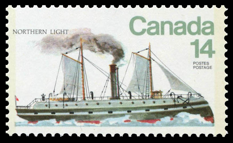 Northern Light Canada Postage Stamp