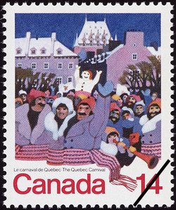 The Quebec Carnival Canada Postage Stamp