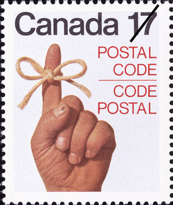 Man's Hand Canada Postage Stamp | Postal Code
