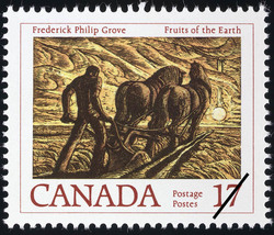 Frederick Philip Grove, Fruits of the Earth Canada Postage Stamp | Canadian Authors