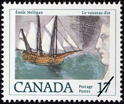 Emile Nelligan, Le vaisseau d'or Canada Postage Stamp | Canadian Authors