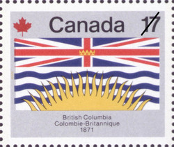 British Columbia, 1871 Canada Postage Stamp | Canada Day
