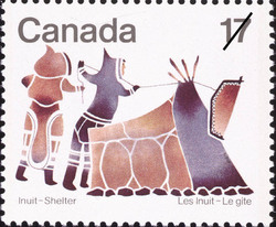 Summer Tent Canada Postage Stamp | Inuit, Shelter