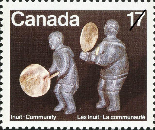 Drum Dancers Canada Postage Stamp