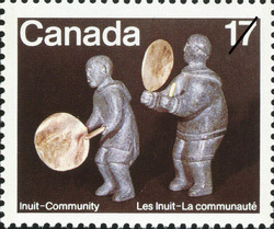 Drum Dancers Canada Postage Stamp | Inuit, Community