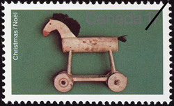 Wooden Horse Pull-toy Canada Postage Stamp | Christmas
