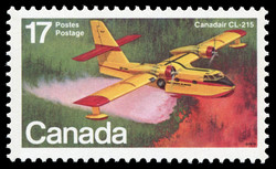 Canadair CL-215 Canada Postage Stamp | Canadian Aircraft, Flying Boats