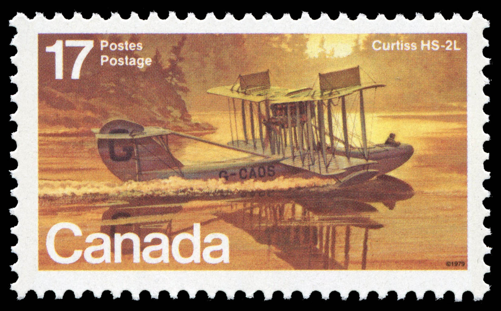 Curtiss HS-2L Canada Postage Stamp