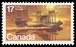 Curtiss HS-2L Canada Postage Stamp | Canadian Aircraft, Flying Boats