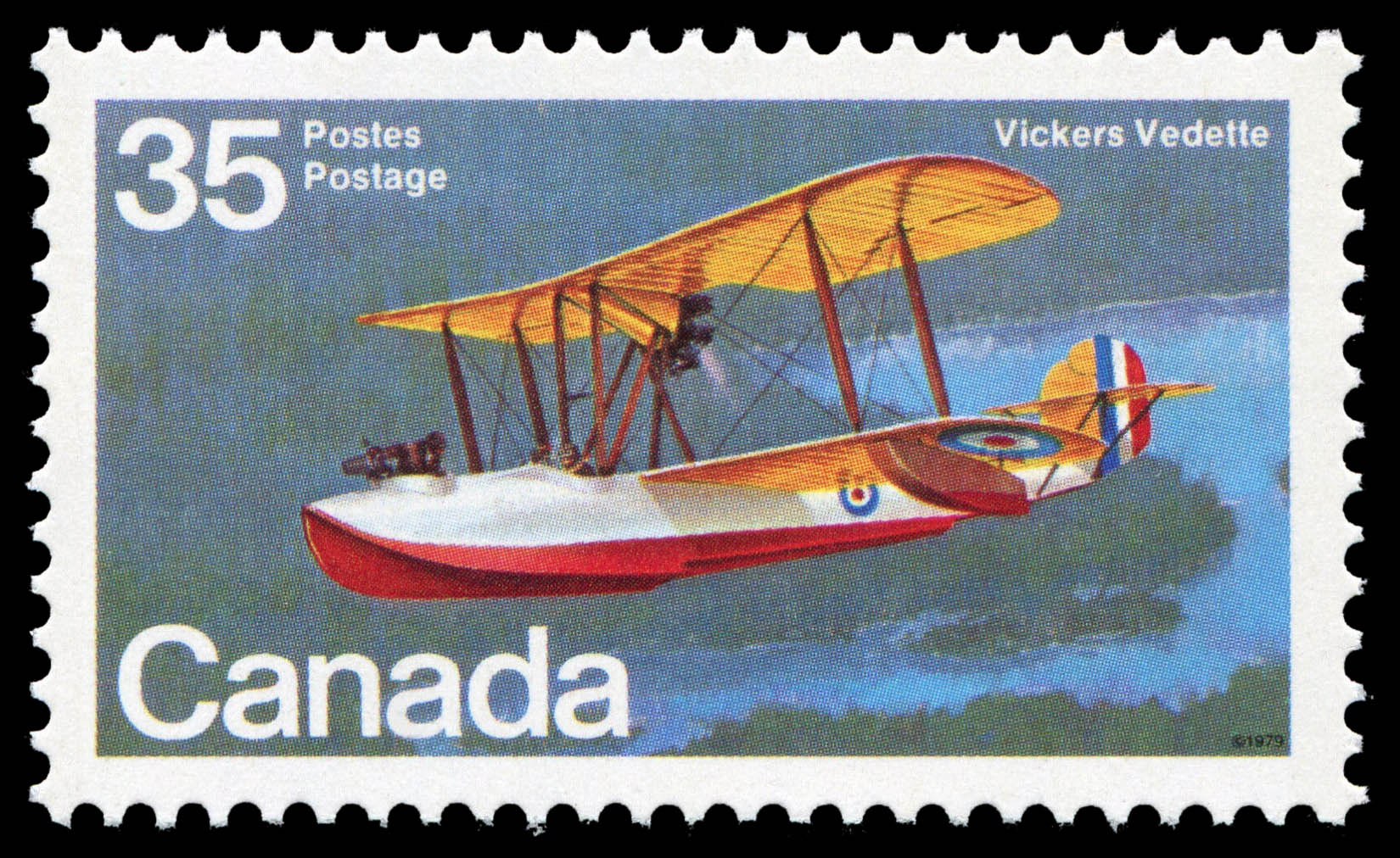Vickers Vedette Canada Postage Stamp | Canadian Aircraft, Flying Boats