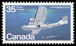Consolidated Canso Canada Postage Stamp | Canadian Aircraft, Flying Boats
