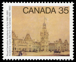 Thomas Fuller, Parliament Buildings Canada Postage Stamp | Royal Canadian Academy of Arts, 1880-1980