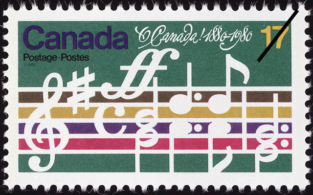 First Bars of O Canada Canada Postage Stamp