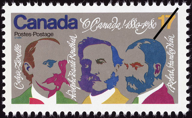 Calixa Lavallee, Adolphe-Basile Routhier, Robert Stanley Weir Canada Postage Stamp