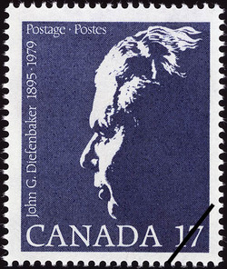 John George Diefenbaker, 1895-1979 Canada Postage Stamp