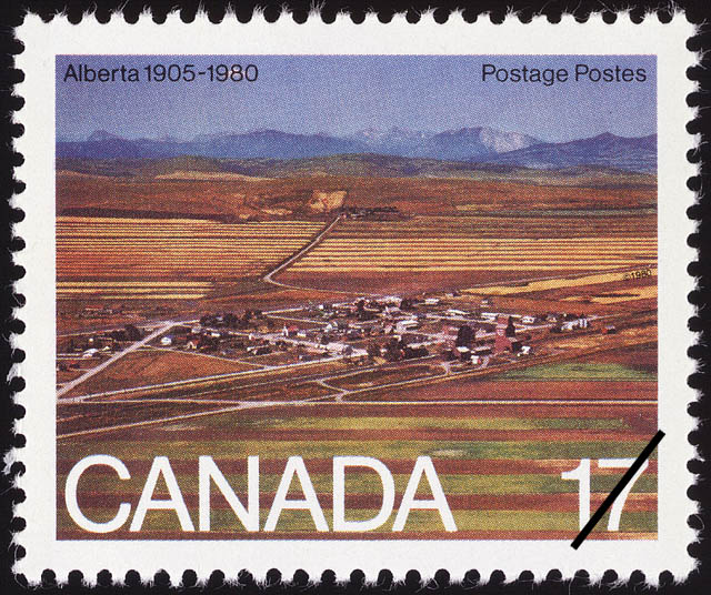 Alberta, 1905-1980 Canada Postage Stamp