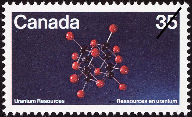 Uranium Resources Canada Postage Stamp
