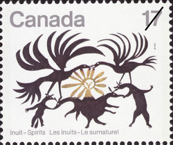 Return of the Sun Canada Postage Stamp | Inuit, Spirits