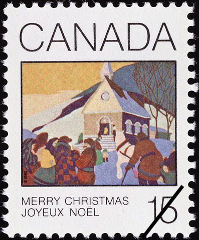 Christmas Morning Canada Postage Stamp