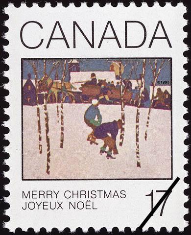 Sleigh Ride Canada Postage Stamp | Christmas