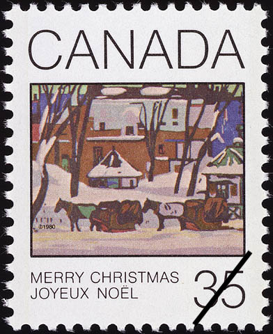 McGill Cab Stand Canada Postage Stamp | Christmas