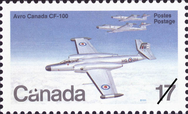 Avro Canada CF-100 Canada Postage Stamp