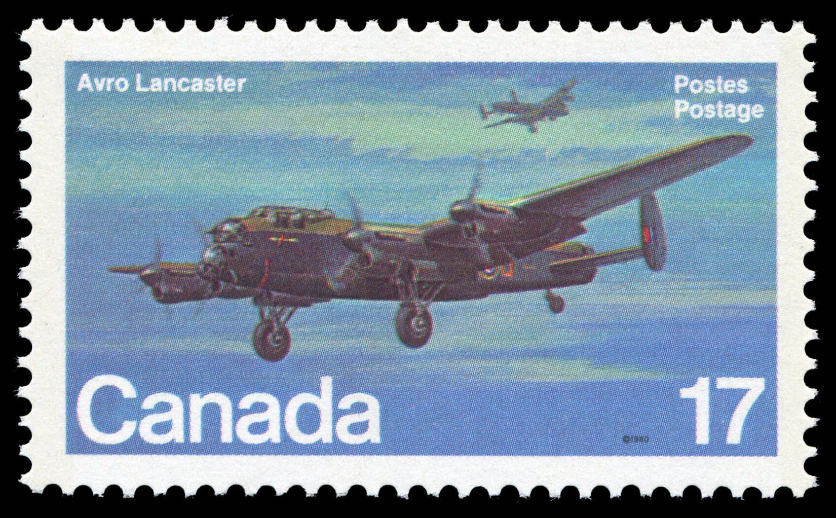 Avro Lancaster Canada Postage Stamp | Canadian Aircraft, Canadian Military Aircraft