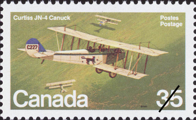 Curtiss JN-4 Canuck Canada Postage Stamp | Canadian Aircraft, Canadian Military Aircraft
