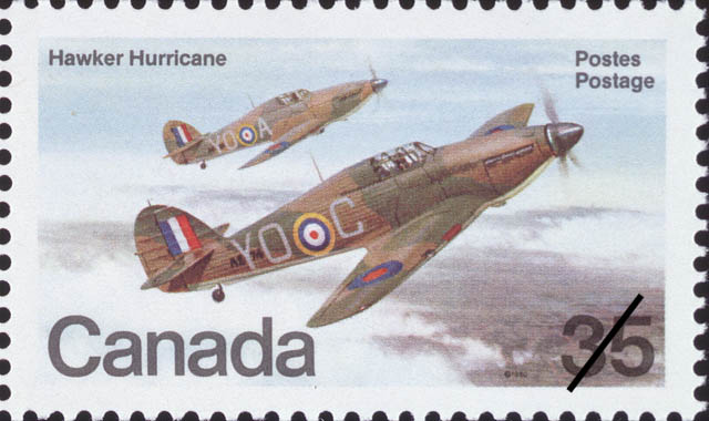 Hawker Hurricane Canada Postage Stamp | Canadian Aircraft, Canadian Military Aircraft