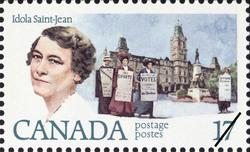 Idola Saint-Jean Canada Postage Stamp | Feminists