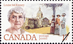 Louise McKinney Canada Postage Stamp | Feminists