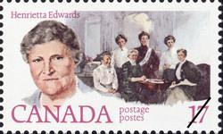 Henrietta Edwards Canada Postage Stamp   Feminists
