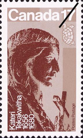 Kateri Tekakwitha, 1656-1680 Canada Postage Stamp | Canadian Religious Personalities