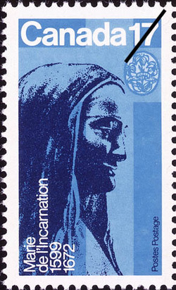 Marie de l'Incarnation, 1599-1672 Canada Postage Stamp | Canadian Religious Personalities