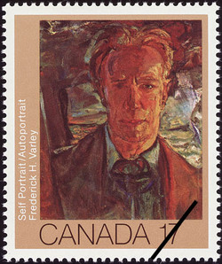 Frederick H. Varley, Self Portrait Canada Postage Stamp | Canadian Art