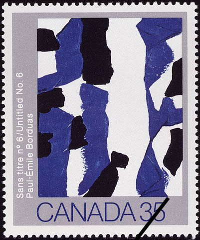 Paul-Emile Borduas, Untitled No. 6 Canada Postage Stamp
