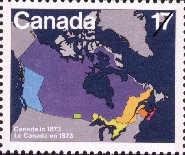 Canada in 1873 Canada Postage Stamp | Canada Day, Maps