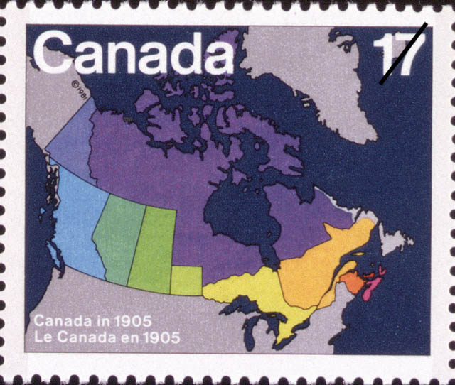 Canada in 1905 Canada Postage Stamp