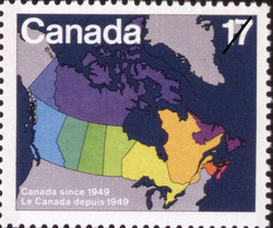 Canada since 1949 Canada Postage Stamp | Canada Day, Maps