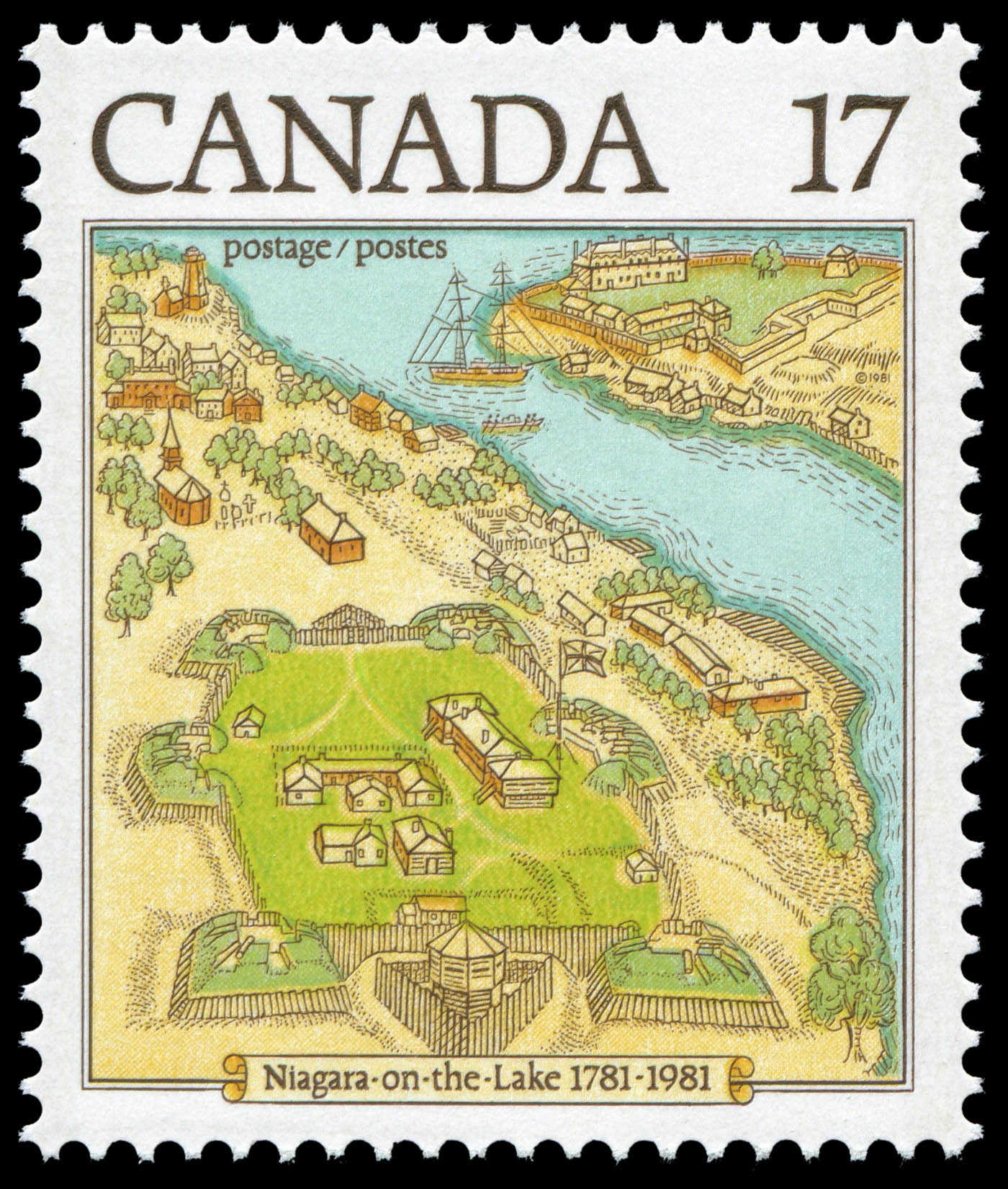 Niagara-on-the-Lake, 1781-1981 Canada Postage Stamp