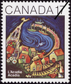 Acadia Canada Postage Stamp