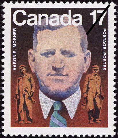 Aaron R. Mosher Canada Postage Stamp