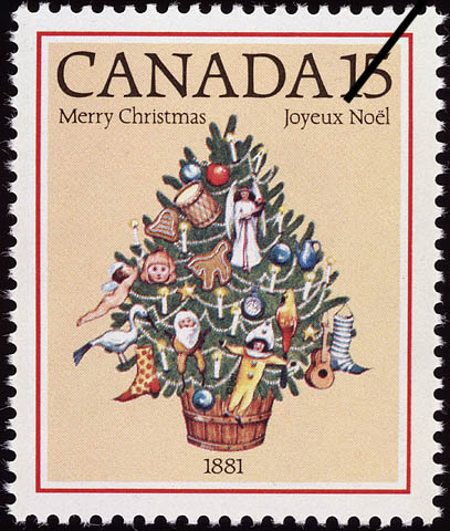 Christmas Tree, 1881 Canada Postage Stamp | Christmas