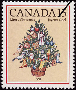 Christmas Tree 1881 Canada Postage Stamp Christmas
